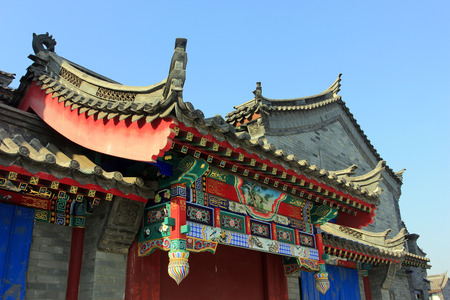 rafters: Chinese traditional style eaves, closeup of photo