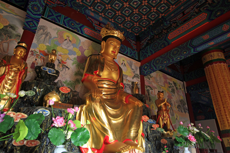bodhisattva: LUAN COUNTY - January 10, bodhisattva sculpture in Dajue Temple, January 10, 2015, Luan County, Hebei Province, China Editorial