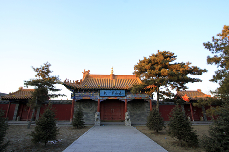 restore ancient ways: Hohhot City - May 2: Gate of DaZhao Temple in Hohhot city, on May 2, 2015, Hohhot, Inner Mongolia autonomous region, China