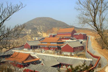respectful: LUAN COUNTY - January 10:Dajue Temple building scenery, January 10, 2015, Luan County, Hebei Province, China Editorial