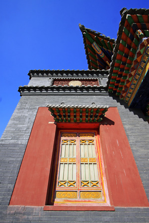restore ancient ways: Hohhot City - May 2: Five-Pagoda Temple architectural features, on May 2, 2015, Hohhot, Inner Mongolia autonomous region, China