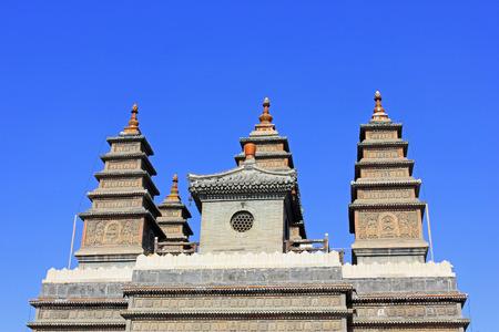 niches: Sarira pagoda building landscape