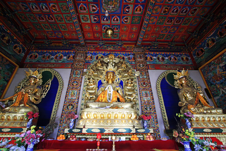 venerable: Hohhot City - February 5: White tara statue and Great day tathagata in the Five Pagoda Temple, on February 5, 2015, Hohhot city, Inner Mongolia autonomous region, China