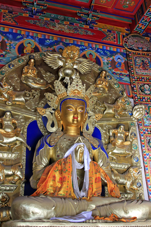 venerable: Great day tathagata statue in the temple