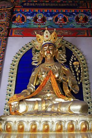 tara: White tara statue in the temple