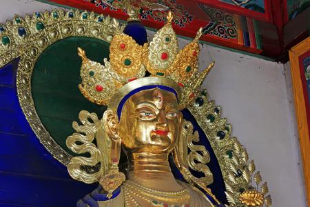 tara: White tara statue in a temple