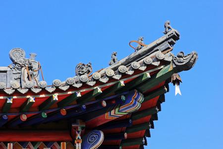 chimes: Temple eaves landscape architecture, closeup of photo