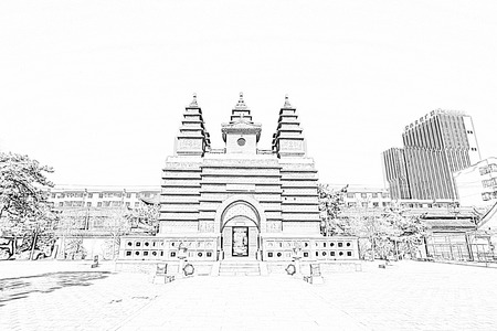 tantra: Hohhot City - February 5: Sarira pagoda building landscape in the Five Pagoda Temple, on February 5, 2015, Hohhot city, Inner Mongolia autonomous region, China Editorial