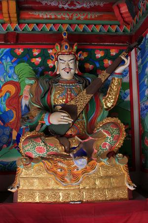 pipa: Hohhot City - February 5: Buddhism gods sculpture in the Five Pagoda Temple, on February 5, 2015, Hohhot city, Inner Mongolia autonomous region, China