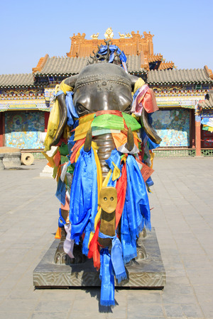 aureate:  elephant copper sculptures in the Dazhao Lamasery