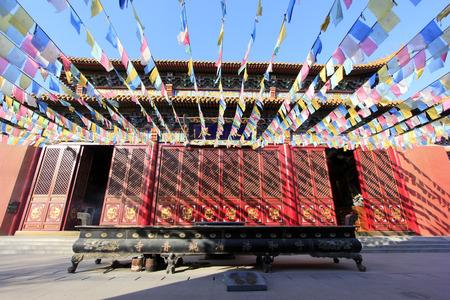 goddess of mercy: Hohhot City - February 6: hall of heavenly kings scenery in the Goddess of mercy temple, on February 6, 2015, Hohhot city, Inner Mongolia autonomous region, China Editorial