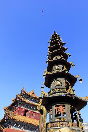goddess of mercy: Hohhot City - February 6: Goddess of mercy temple incense burner, on February 6, 2015, Hohhot city, Inner Mongolia autonomous region, China