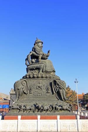khan:  Khan Alatan sculpture in the Dazhao Lamasery