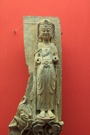inner wear: Hohhot City - February 7: Stone carving bodhisattva as coloured drawing or pattern in the Inner Mongolia Museum, on February 7, 2015, Hohhot city, Inner Mongolia autonomous region, China