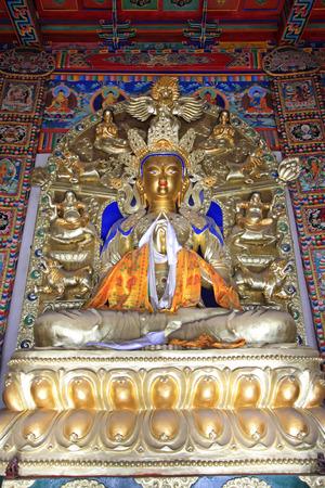 venerable: Hohhot City - February 5: Great day tathagata statue in the Five Pagoda Temple, on February 5, 2015, Hohhot city, Inner Mongolia autonomous region, China