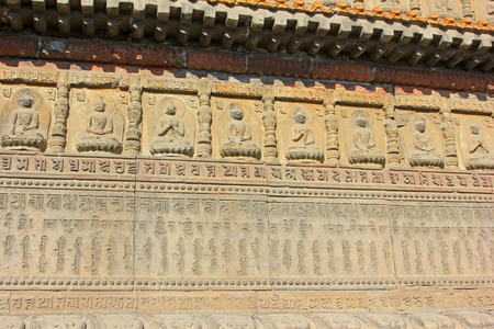 the scriptures: figure of Buddha and scripture in the Five Pagoda Temple