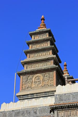 tantra: Sarira pagoda building landscape in the Five Pagoda Temple