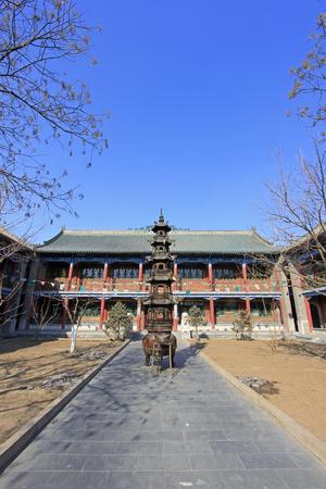 depository: Hohhot City - February 6: Sutra depository building scenery in Dazhao Lamasery, on February 6, 2015, Hohhot city, Inner Mongolia autonomous region, China Editorial
