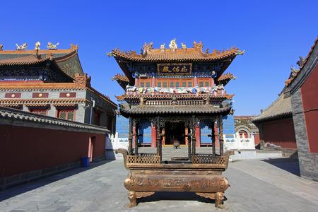 bodegones: Hohhot City - 6 de febrero: Dazhao Lamaser�a paisaje arquitect�nico, el 6 de febrero de 2015, la ciudad de Hohhot, Mongolia Interior, regi�n aut�noma, China Editorial