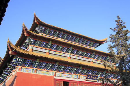 rafters: Goddess of mercy temple architecture, closeup of photo