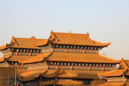 aureate: temple building scenery, closeup of photo