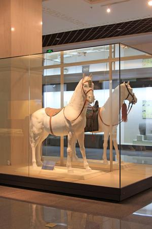 mongolia horse: Hohhot City - February 7: Mongolian pommel horse equipment in the Inner Mongolia Museum, on February 7, 2015, Hohhot city, Inner Mongolia autonomous region, China