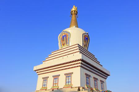 tantra: Hohhot City - February 6: Khan treasure pagoda building scenery, on February 6, 2015, Hohhot city, Inner Mongolia autonomous region, China