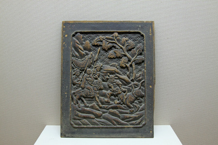 restore ancient ways: ancient Chinese wood carving works, closeup of photo