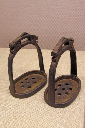 stirrup: oxidation rust stirrup, closeup of photo Stock Photo