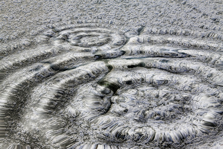circular water ripple: Wave shape, closeup of photo