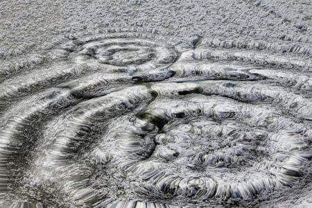 circular water ripple: Wave shape, closeup of photo