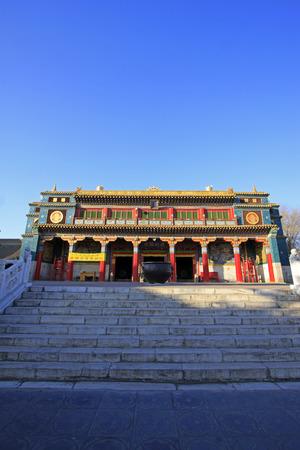 appearance: Hohhot City - February 5: Xilituzhao Lamasery Building scenery, on February 5, 2015, Hohhot city, Inner Mongolia autonomous region, China