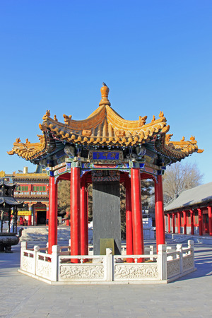 stone tablet: Hohhot City - February 5: imperial stone tablet pavilion building scenery in the Xilituzhao Lamasery, on February 5, 2015, Hohhot city, Inner Mongolia autonomous region, China Editorial