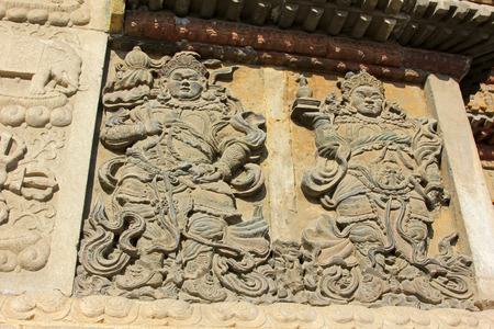 cultural artifacts:  figure of Buddha in the Five Pagoda Temple