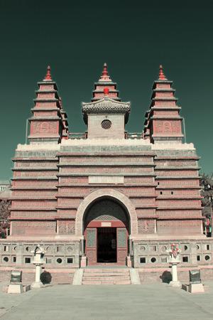 tantra: Hohhot City - February 5: Sarira pagoda in the Five Pagoda Temple, on February 5, 2015, Hohhot city, Inner Mongolia autonomous region, China