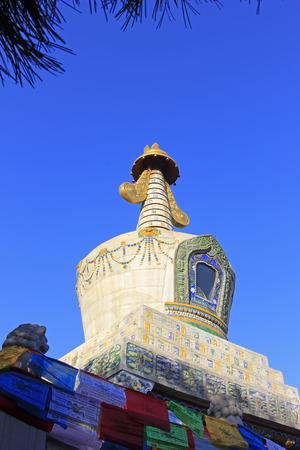 tantra: Hohhot City - February 5: Xilituzhao Lamasery Building scenery, on February 5, 2015, Hohhot city, Inner Mongolia autonomous region, China