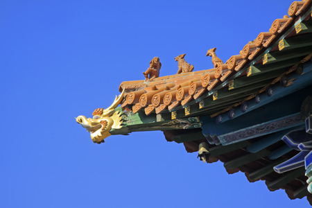 the gilding: gilding dragon head sculpture in a temple, closeup of photo
