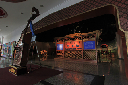 restore ancient ways: Hohhot City - February 7: exhibition hall internal structure in the Inner Mongolia Museum, on February 7, 2015, Hohhot city, Inner Mongolia autonomous region, China
