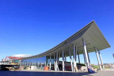 Hohhot Stad - 7 februari: Inner Mongolia museum architectonische uitstraling, op 7 februari 2015, Hohhot stad, Binnen-Mongolië autonome regio, China
