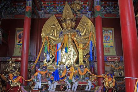 revere: Hohhot City - February 6: The Big White Tara statue in Dazhao Lamasery, on February 6, 2015, Hohhot city, Inner Mongolia autonomous region, China