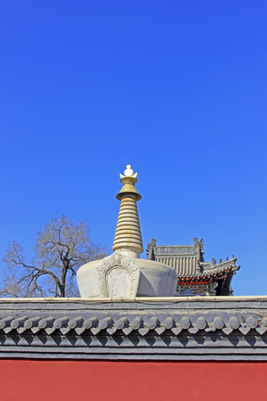 tantra: Pagoda architectural landscape in the Five Pagoda Temple, Hohhot city, Inner Mongolia autonomous region, China