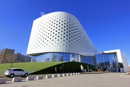performing arts: Hohhot City - February 7: Performing arts center Inner Mongolia building exterior, on February 7, 2015, Hohhot city, Inner Mongolia autonomous region, China