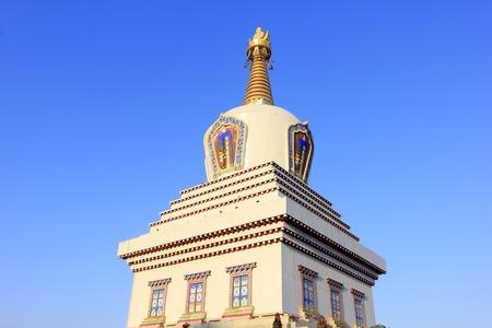 khan:  Khan treasure pagoda building scenery Stock Photo