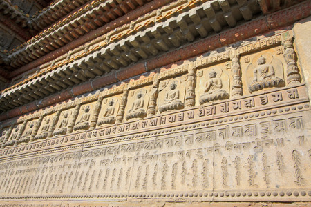 scriptures: figure of Buddha and scripture in the Five Pagoda Temple, Hohhot city, Inner Mongolia autonomous region, China Stock Photo
