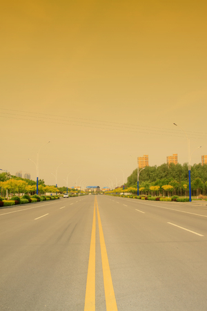 urban road: Urban road landscape, closeup of photo