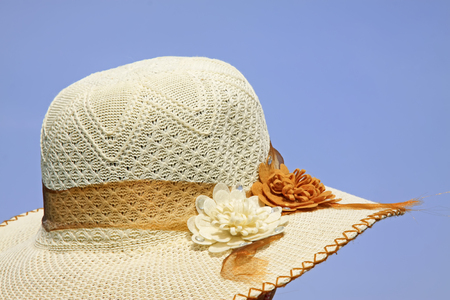 sun hat: Sun hat closeup of photo