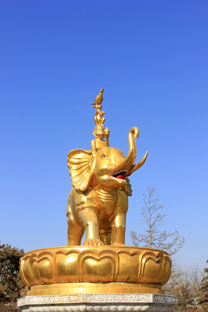 tantra: Hohhot City - February 5: Harmony four sculpture in the Xilituzhao Lamasery, on February 5, 2015, Hohhot city, Inner Mongolia autonomous region, China Editorial