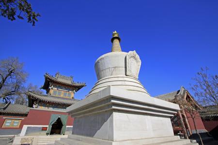 tantra: Hohhot City - February 5: Pagoda architectural landscape in the Five Pagoda Temple, on February 5, 2015, Hohhot city, Inner Mongolia autonomous region, China