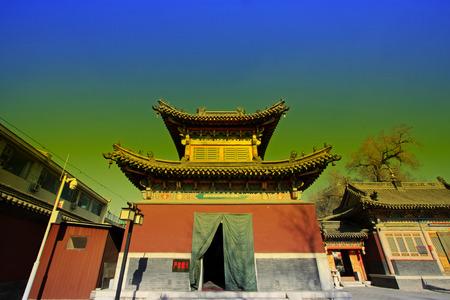 tantra: Hohhot City - February 5: Five Pagoda Temple Building scenery, on February 5, 2015, Hohhot city, Inner Mongolia autonomous region, China