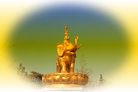 aureate: Hohhot City - February 5: Harmony four sculpture in the Xilituzhao Lamasery, on February 5, 2015, Hohhot city, Inner Mongolia autonomous region, China Editorial